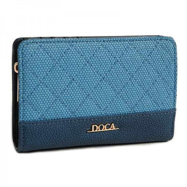 Dámská peněženka Doca 64693 - modrá