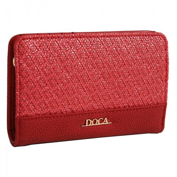 Dámská peněženka Doca 64692 - červená