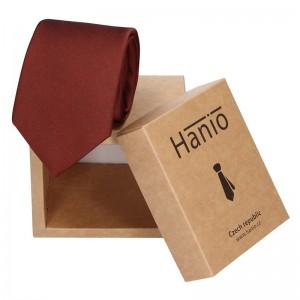 Pánská hedvábná kravata Hanio Evan - vínová