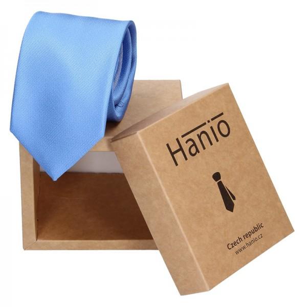 Pánská hedvábná kravata Hanio James - modrá