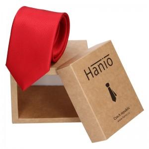 Pánská hedvábná kravata Hanio Oliver - červená