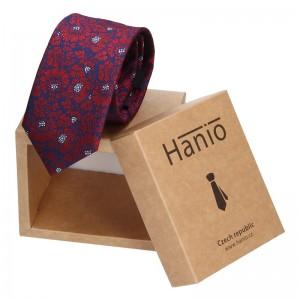 Pánská hedvábná kravata Hanio Jacob - fialová