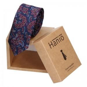 Pánská hedvábná kravata Hanio Logan - modrá