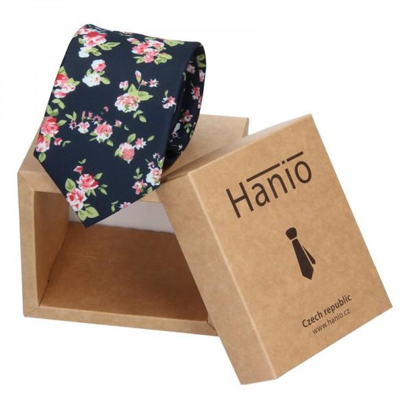 Pánská hedvábná kravata Hanio Andrew - černá