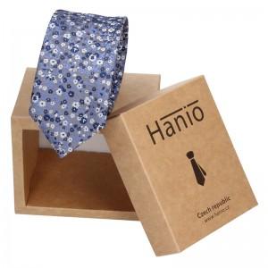 Pánská hedvábná kravata Hanio Owen - modrá