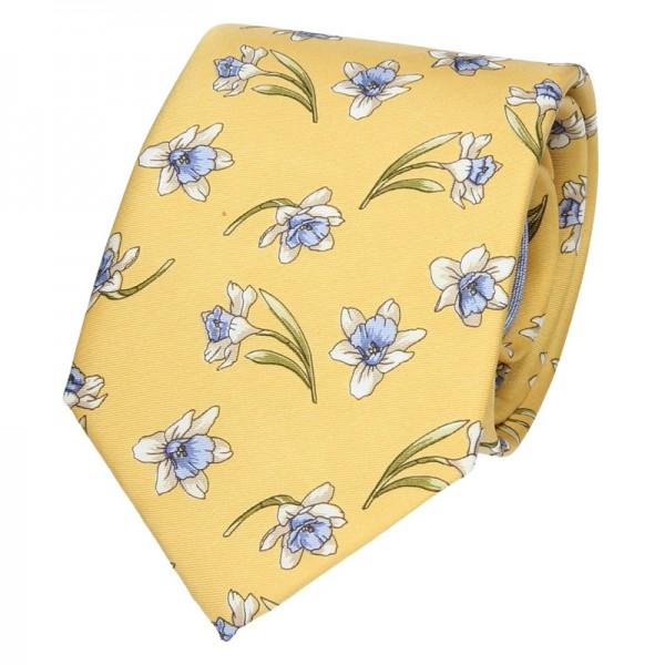 Pánská hedvábná kravata Hanio Ryan - žlutá