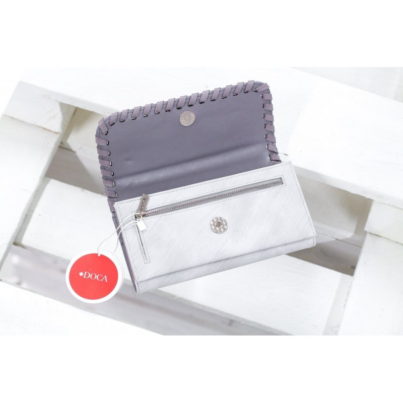 Dámská peněženka Doca 64653 - šedá