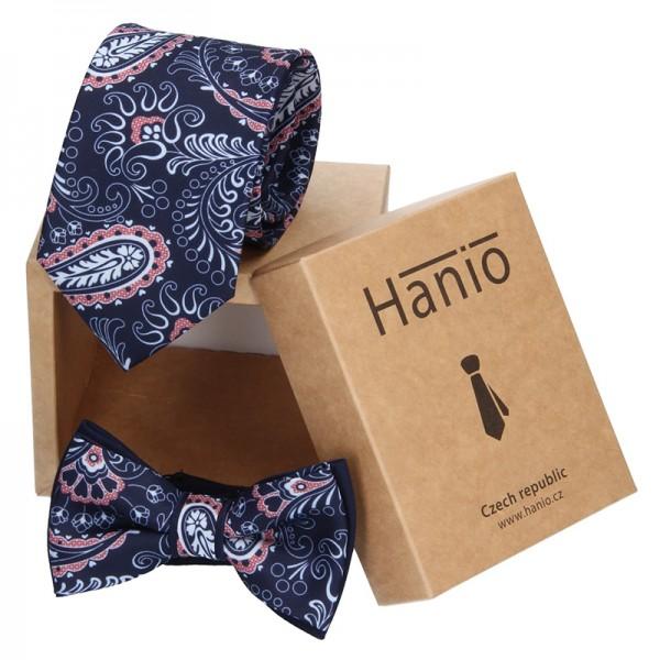 Sada kravata a motýlek Hanio K0255