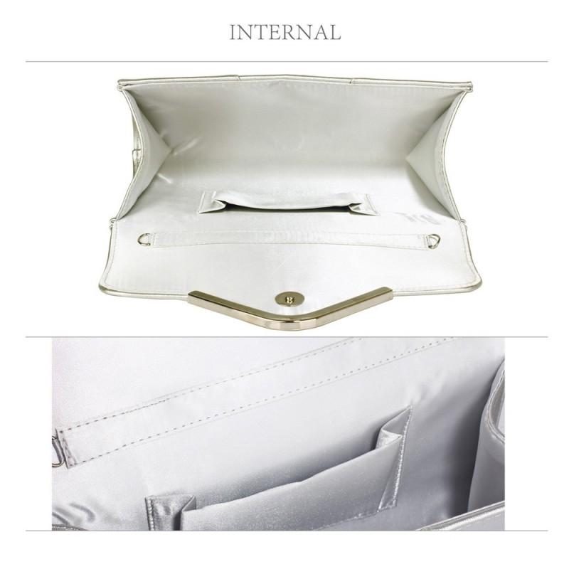 Dámské psaníčko LS Fashion Gloss - stříbrná