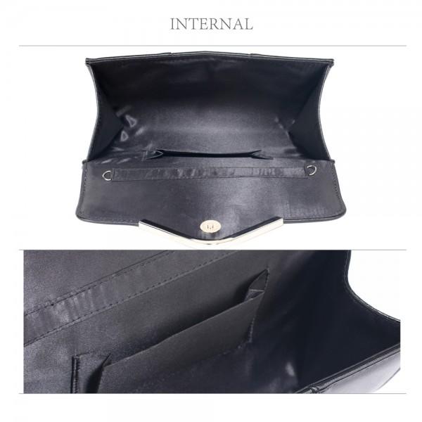 Dámské psaníčko LS Fashion Shine - černá