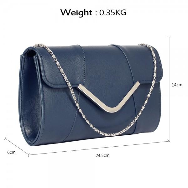Dámské psaníčko LS Fashion Shine - modrá