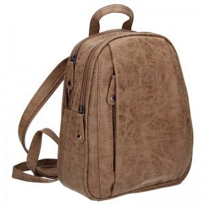 Moderní ekokožený dámský batoh Enrico Benetti 66169 - hnědá
