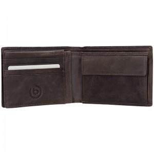 Pánská kožená peněženka Bugatti Ulrich - tmavě hnědá