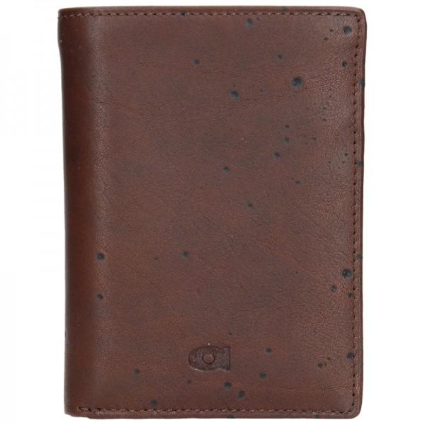 Pánská kožená peněženka Daag P01 - tmavě hnědá