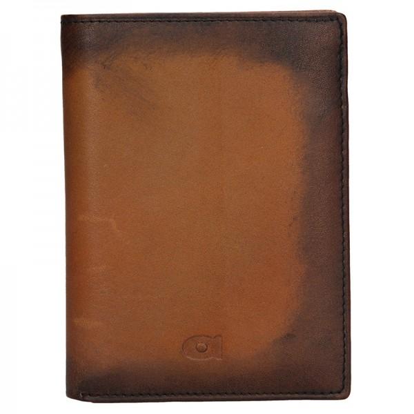 Pánská kožená peněženka Daag Alive P01 - koňak