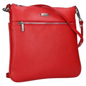 Dámská kožená crossbody kabelka Facebag Paula - červená
