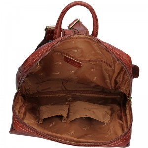 Elegantní dámský kožený batoh Katana Petra - koňak