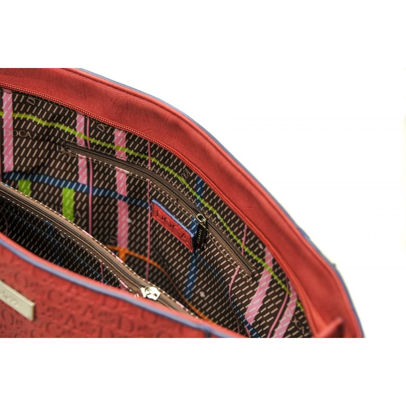 Dámská kabelka Doca 13464 - červená