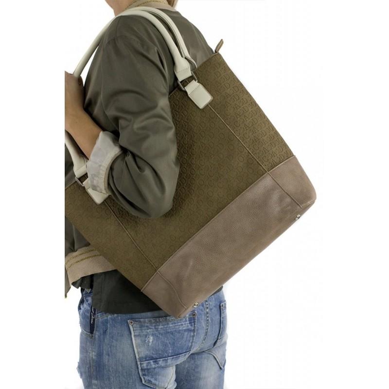 Dámská kabelka Doca 13465 - khaki