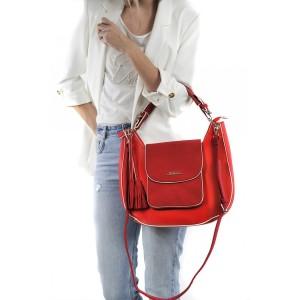 Dámská kabelka Doca 13541 - červená