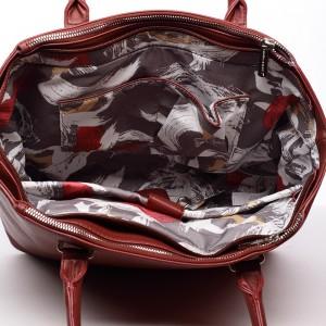 Dámská kabelka David Jones Ulma - tmavě červená