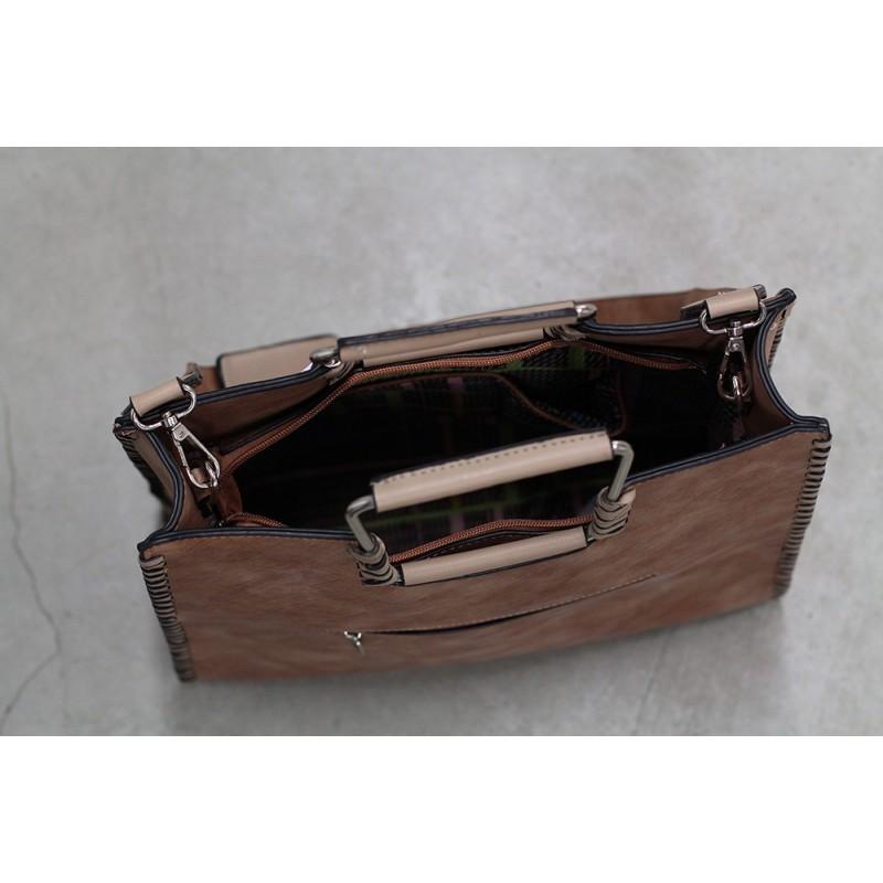 Dámská kabelka Doca 12087 - hnědá