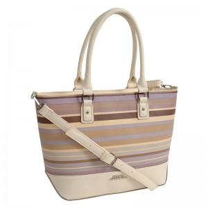 Dámská kabelka Doca 11976 - béžovo-fialová
