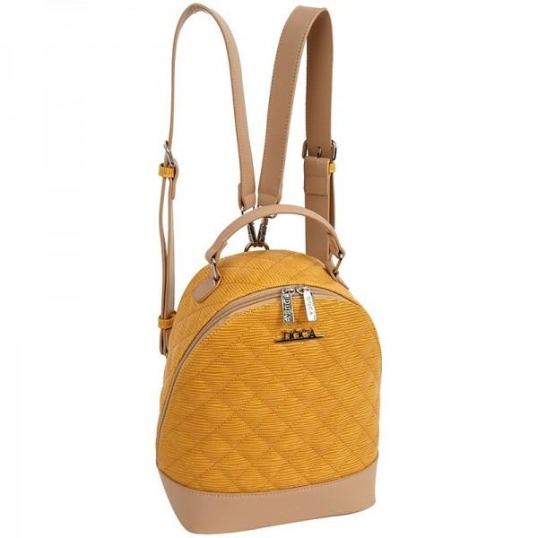 Dámský batůžek Doca 12322 - žlutá