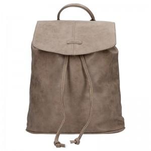 Moderní dámský batoh Piace Molto Adriana - hnědá