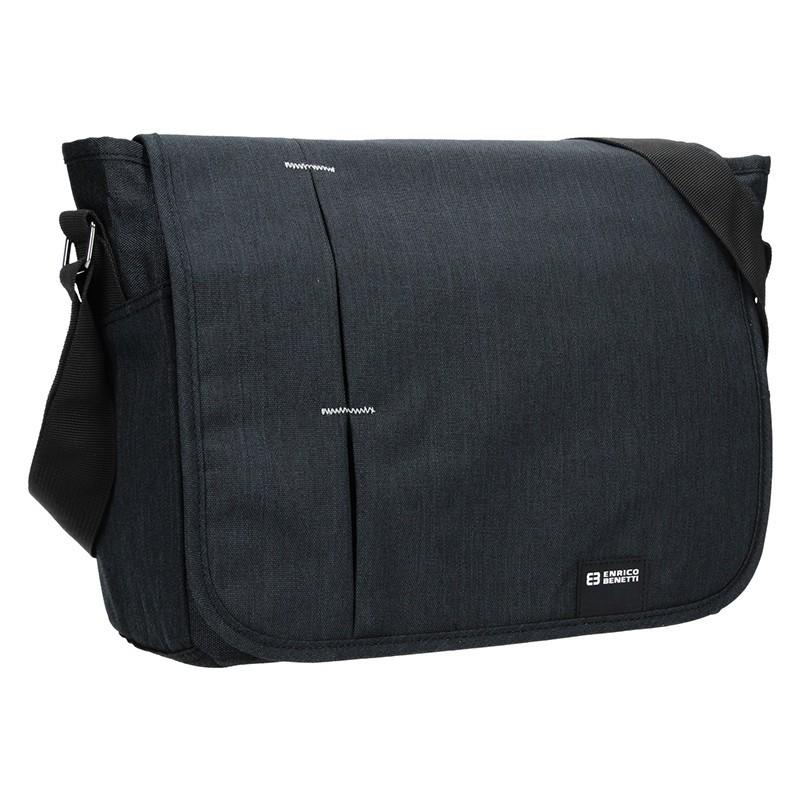 Pánská taška přes rameno Enrico Benetti Koplen - šedo-černá
