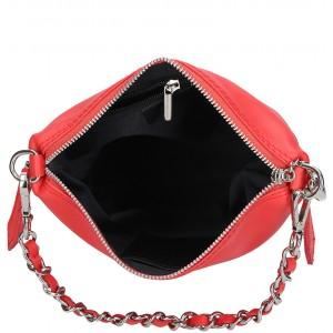 Dámská kožená kabelka Facebag Marta - červená