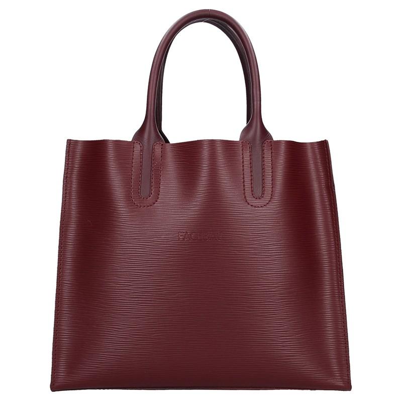 e92181b934 Dámská kožená kabelka Facebag Monarchy - vínová