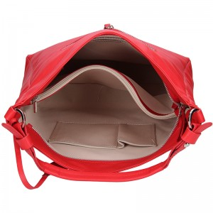 Dámská kožená kabelka Facebag Margaret - červená