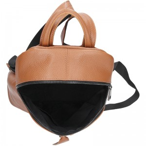 Dámský kožený batoh Italy Nina - hnědá