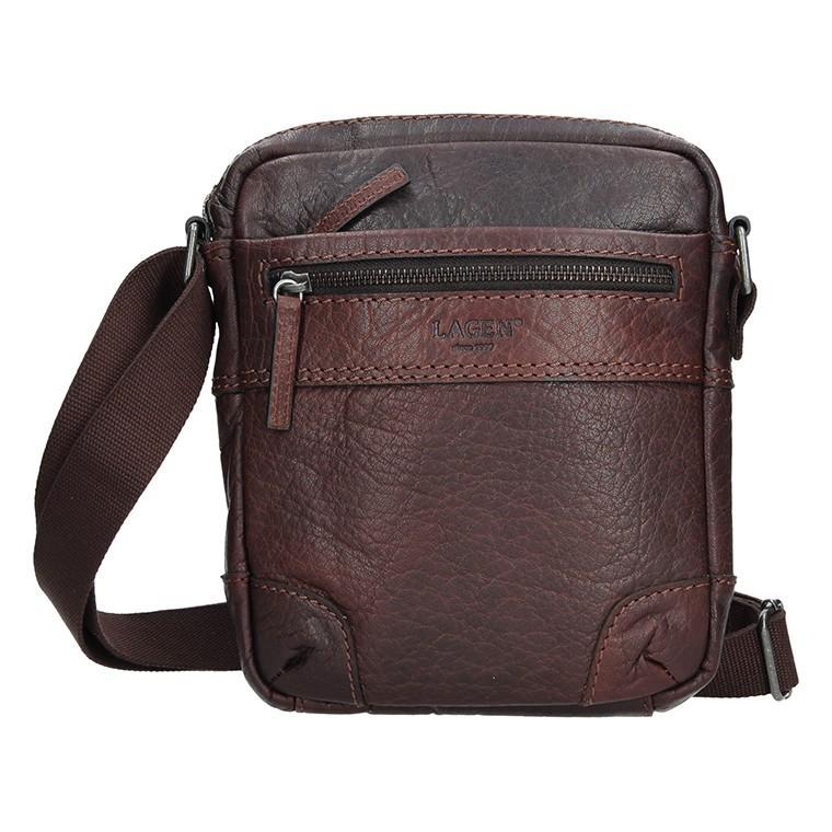 Pánská kožená taška přes rameno Lagen Armareto - tmavě hnědá ee90e90d6b9