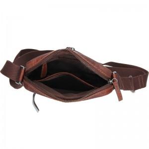 Pánská kožená taška přes rameno Lagen Armareto - tan