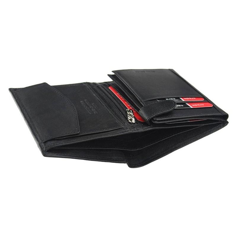 Pánská kožená peněženka Pierre Cardin Edison - černá