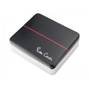 Pánská kožená peněženka Pierre Cardin Maxmilian - černo-červená