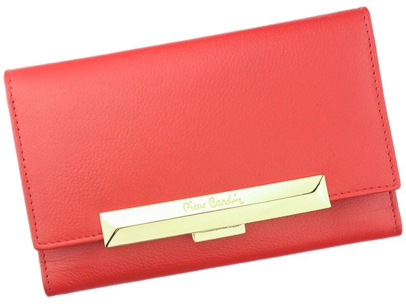 Dámská kožená peněženka Pierre Cardin Michaela - červená