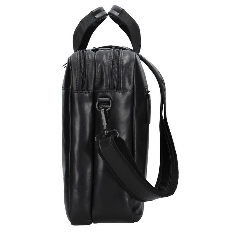 Luxusní pánská kožená taška Daag Martin - černá