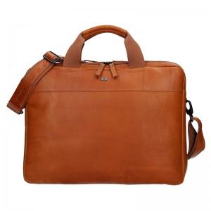 Luxusní pánská kožená taška Daag Martin - koňak