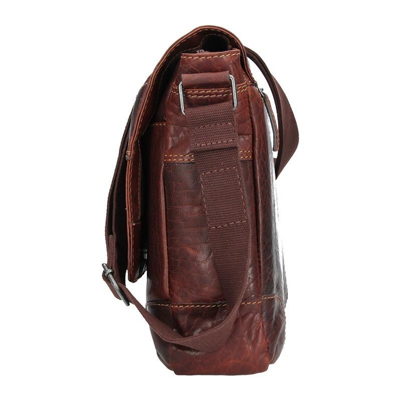 Pánská kožená taška přes rameno Lagen Marvel - tan
