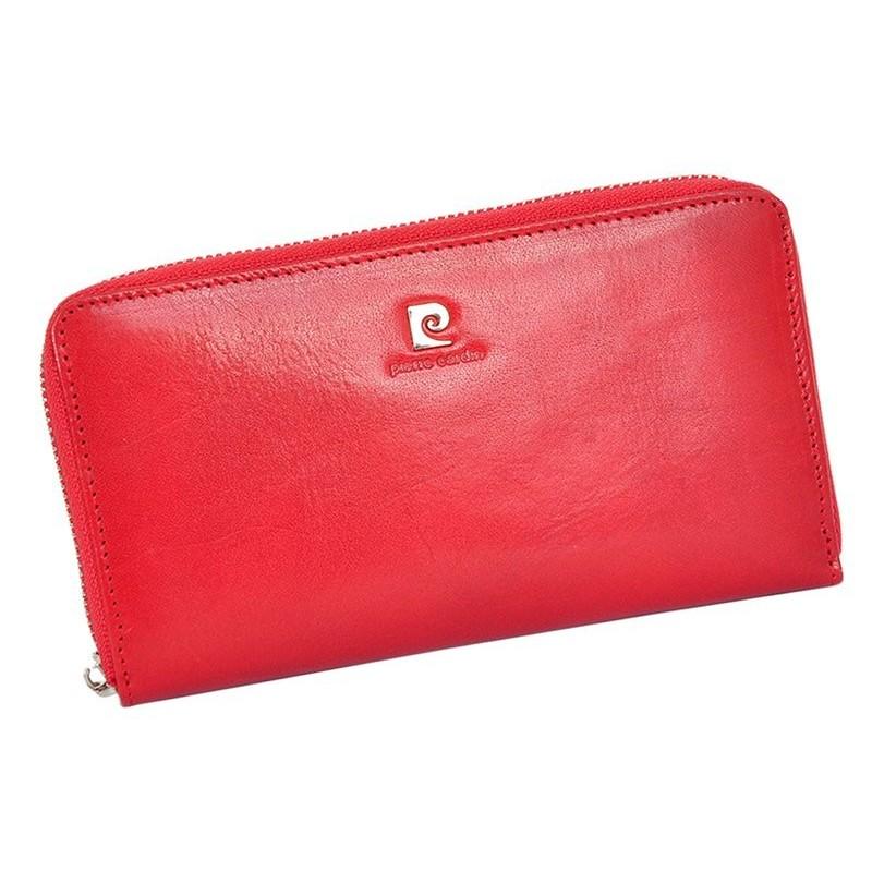Dámská kožená peněženka Pierre Cardin Eva - červená 6289b668a1