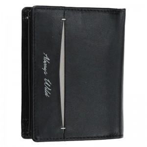 Pánská kožená peněženka Always Wild Ernest - černo-šedá