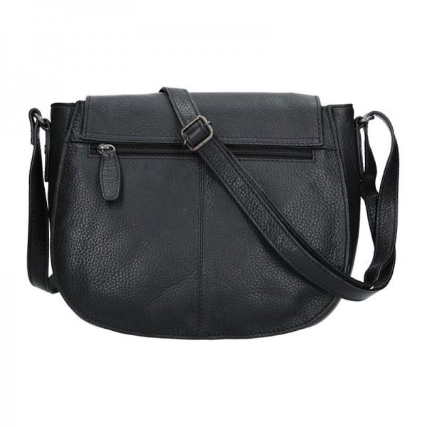 Dámská kožená kabelka Lagen Emily - černá