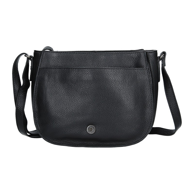 Dámská kožený kabelka Lagen Emily - černá