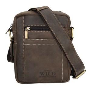 Pánská taška přes rameno Always Wild Fredy - tmavě hnědá