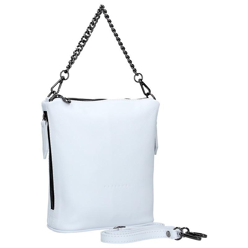 Dámská kožená kabelka Facebag Marta - bílá