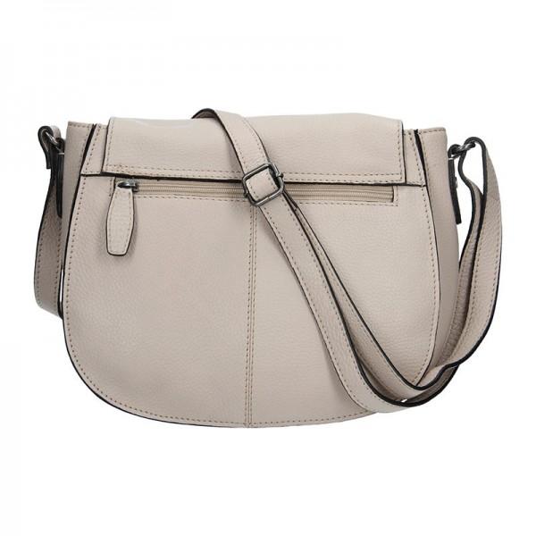 Dámská kožená kabelka Lagen Emily - krémová