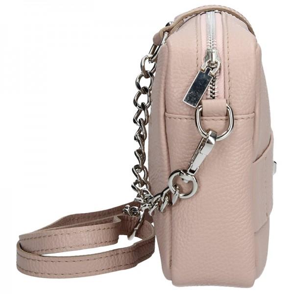 Trendy dámská kožená crossbody kabelka Facebag Nina - tělová